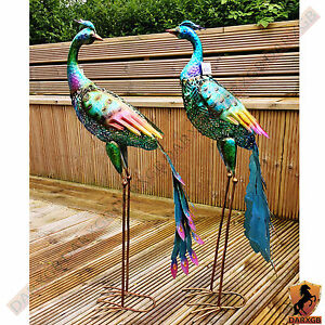 Image Is Loading Large Peacock Outdoor Garden Decorative Peacock Home Lawn