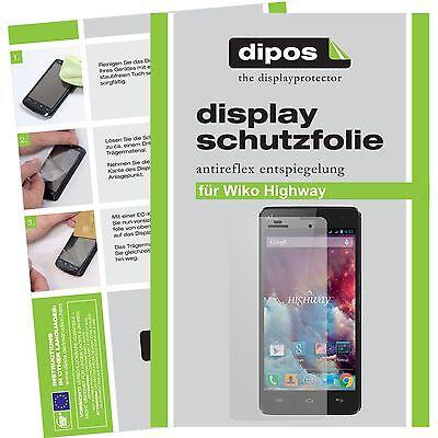 Wiko Highway Schutzfolie matt Displayschutzfolie Folie dipos Displayfolie