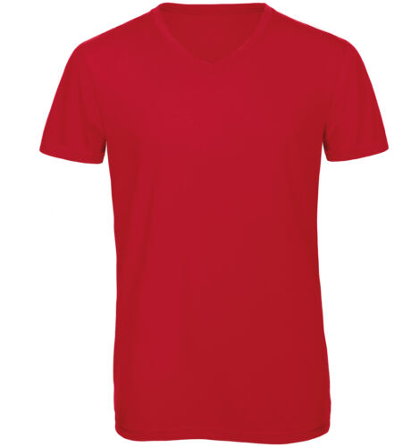 B/&C Collection Men/'s V Neck Triblend T-Shirt TM057 Plain Cotton Lightweight Tee