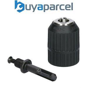 """13mm Keyless Chuck Plus SDS Adaptor Fits Any Drill Makita Dewalt Bosch 1/2"""" UNF"""