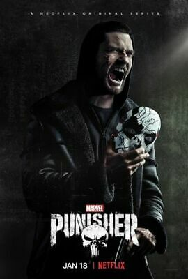 G-732 The Punisher Fabric Poster Season 2 Marvel TV Series Jigsaw 20x30 24x36