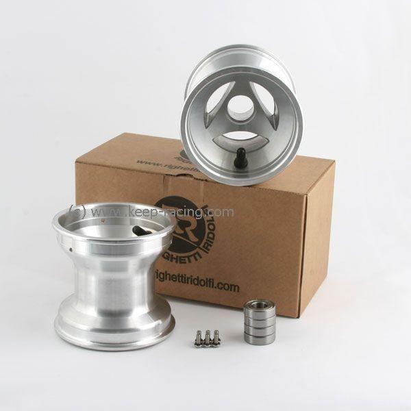 5 Zoll Aluminiumfelgen Satz (2 Stück) 130mm Felgensicherung 17mm Aufnahme