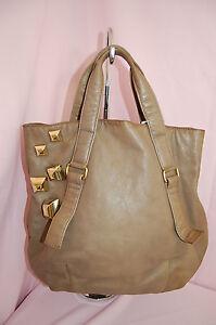 BULGA BRERA Large Leather Handbag w Metal Large Decorations~UNIQUE ... 394ad898165f7