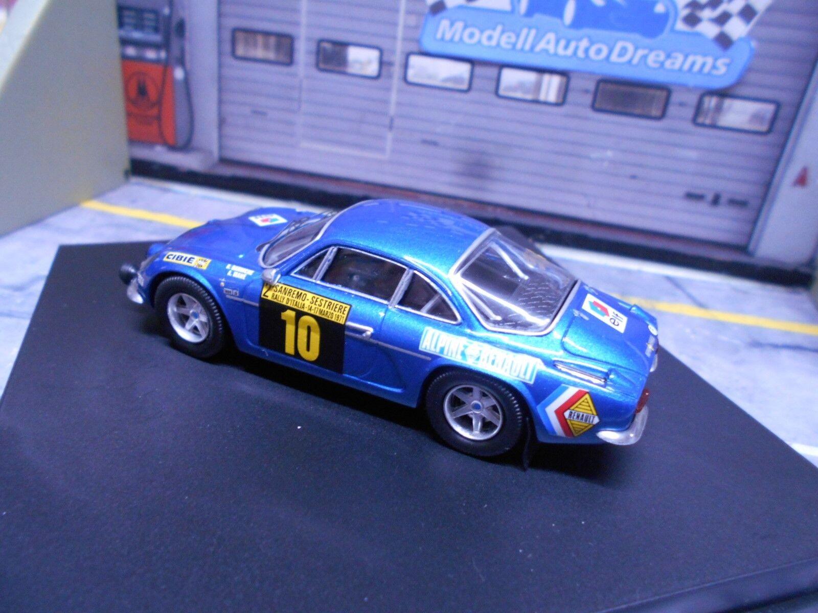 Renault alpine a110 1600 rallye san remo 1971  10 10 10 Darniche 4th trofeu 1 43 34ed60