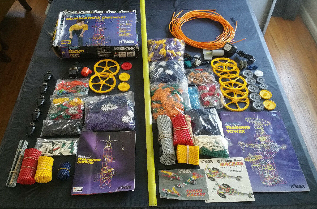 KNEX Hyperspace Training Tower Command Outpost Lot Connectors Rods Motors