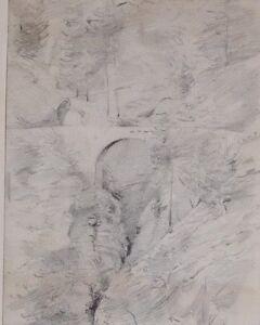 C1860 Original Kunstwerk Zeichnung Sketch Via Mala
