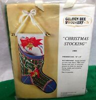 Vintage Golden Bee Stitchery Christmas Stocking Crewel Stitchery Kit- 1978