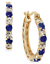 Victoria Townsend NWT $150 Hoop Earrings 18K Gold Over Silver Sapphire FO118