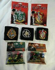 HARRY POTTER Lot, Patches Character & Wrist Bands Slytherin Gryffindor Hogwarts