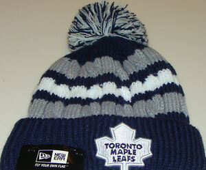 Toronto Maple Leafs New Era Beanie Toque Ladies Women Knit Hat Cap NHL Wintry