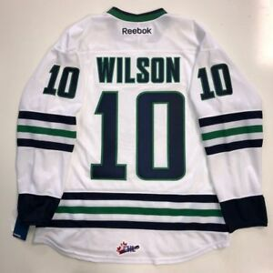 65a99ebe9 TOM WILSON RBK PREMIER PLYMOUTH WHALERS OHL JERSEY NEW WASHINGTON ...