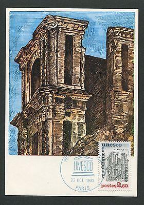 France Mk 1982 Unesco Brasil Sao Miguel Cathedral Carte Maximum Card Mc Cm D7833 100% Garantie Architektur Diverse Philatelie