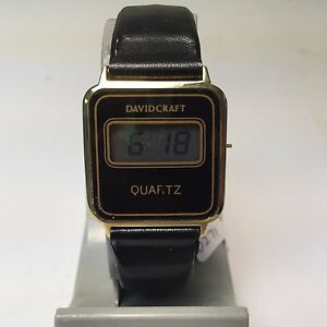 vintage david craft mens ultra thin digital quartz