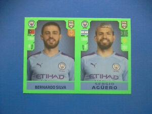 Figurine-Panini-Fifa-365-2019-20-2020-n-55-Silva-Aguero-Manchester-City