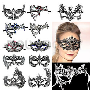 Valentine-039-s-Day-Black-Filigree-Masquerade-Ball-Metal-Mask-Party-Fancy-Dress-Gift