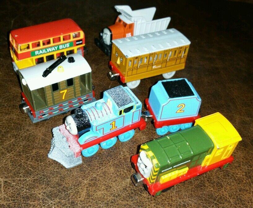 Thomas Tank Engine Train Diecast Lot Annie Toby Thomas Bulgy Max Iron Arry