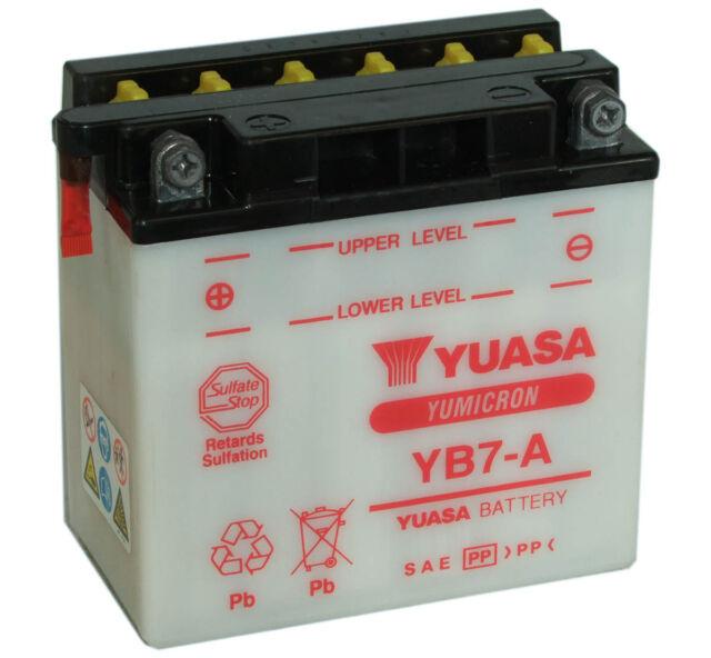 Batterie Yuasa moto YB7-A SUZUKI T500 Titan 68-92