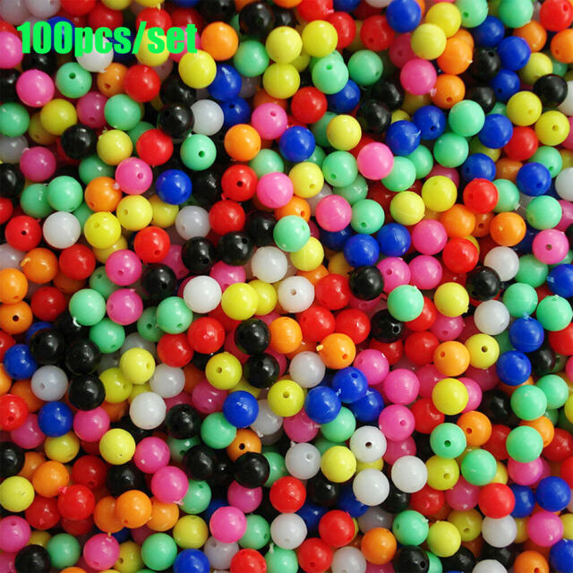 Transparent Stoppers Fishing Cross Beads Drill  Double Pearl  Floats Balls