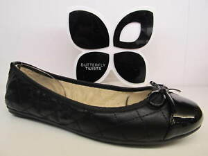 734271779fc Image is loading Butterfly-Twists-Twist-Olivia-Black-Quilted-Bow-Flat-