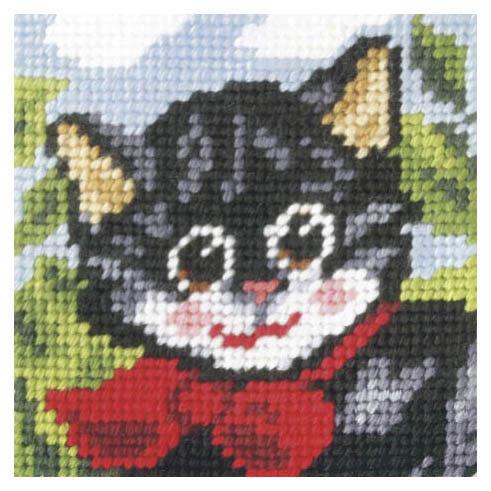 1x Embroidery Kit Pussy Cat Sewing Craft Tool Hobby Art UK Bulk Filoro