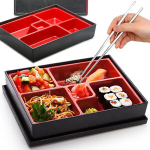 Bento-Box-Japanese-Lunch-Box-Reusable-Chopsticks-Rice-Sushi-Catering-Restaurant
