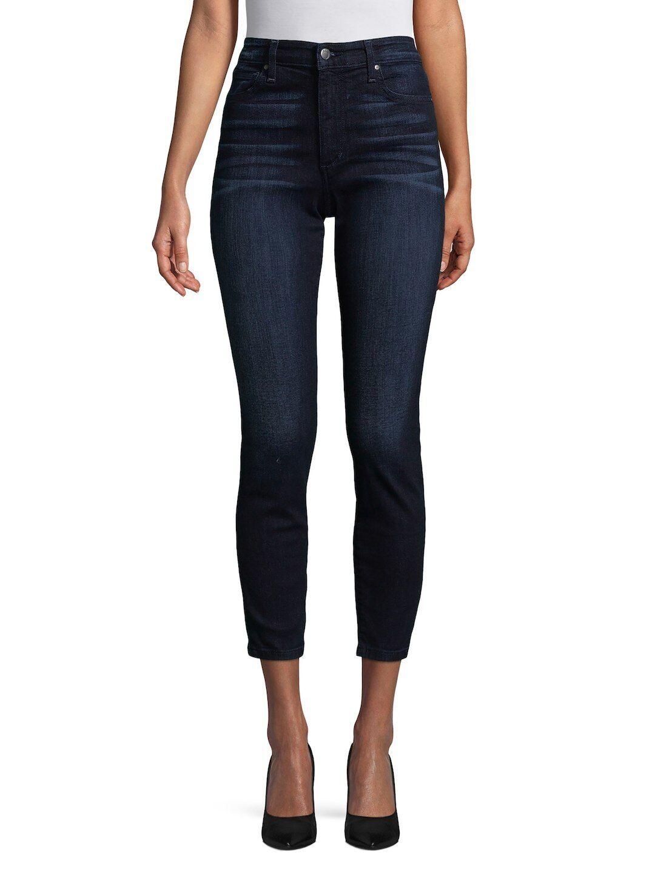 Jeans Charlie High Rise Ankle Jeans, mörkblå storlek 30
