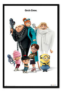 Despicable-Me-3-Gru-039-s-Crew-Poster-Framed-Cork-Pin-Notice-Board-With-Pins