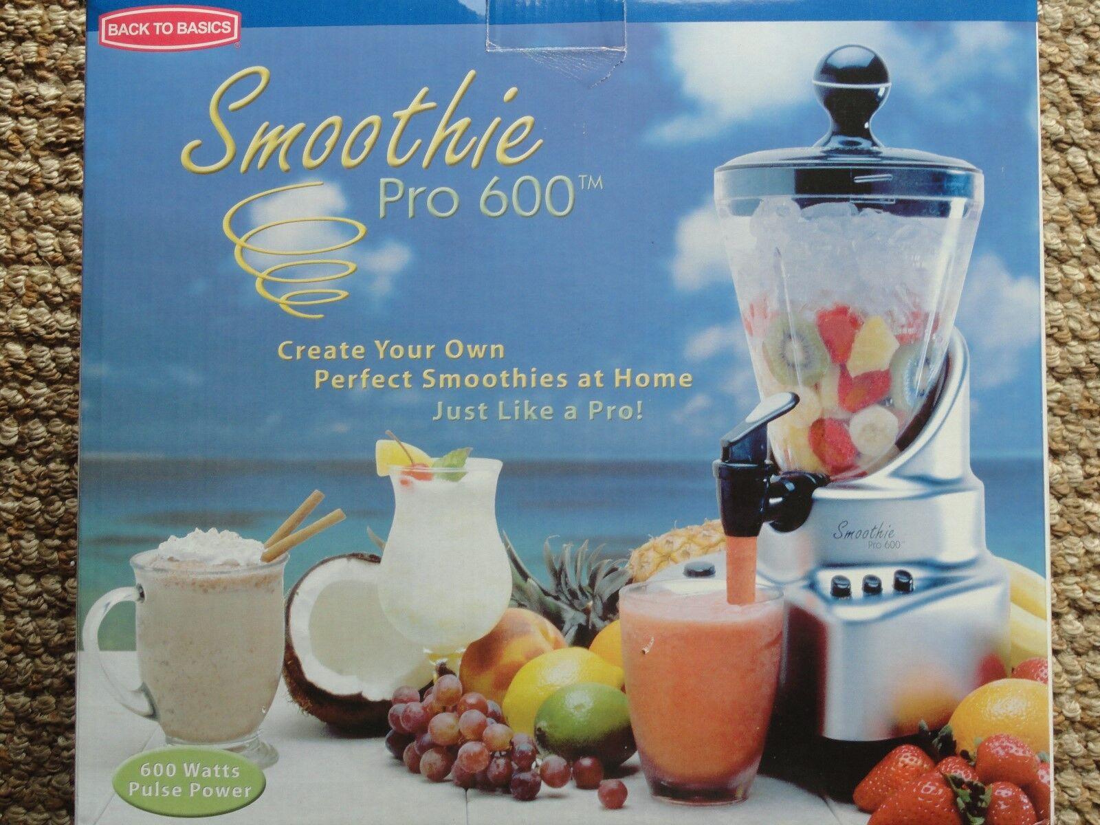 Back to Basics Sp600b Smoothie Juicer Pro 600 Blender * 450w Pulse ...