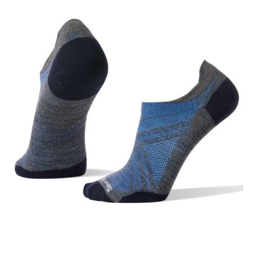 SmartWool Mens Smartwool PhD Run Ultra Light Micro Socks Blue Grey Sports Gym