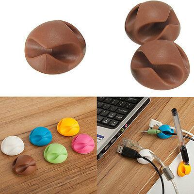 2PCs Car Wire Cord Clip Cable USB Holder Tie Clips Fixer Organizer Drop Adhesive