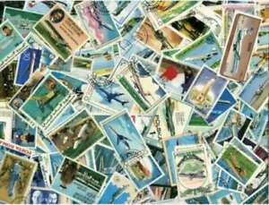 AVIATION-sur-timbres-Collection-500-differents-timbres
