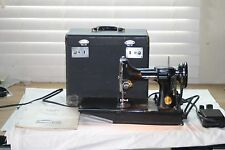 Vintage Singer Featherweight 221 3-120 Sewing Machine w/Case & Pedal Good Shape
