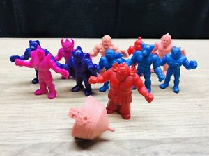 Lot-Of-11-VTG-M-U-S-C-L-E-MEN-Figures-Muscle-Mattel-1980s
