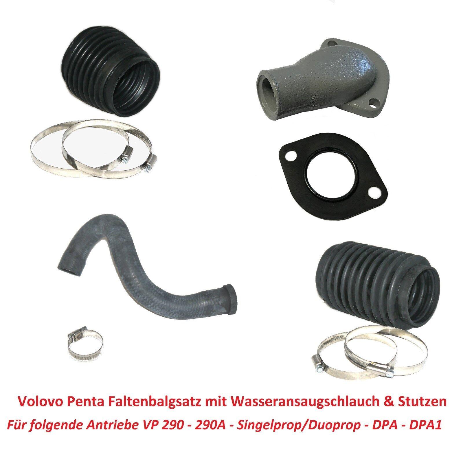 Faltenbalg Set Volvo Penta Antrieb 290 290A DP SP DPA DPA1 Z-Antrieb Sterndrive