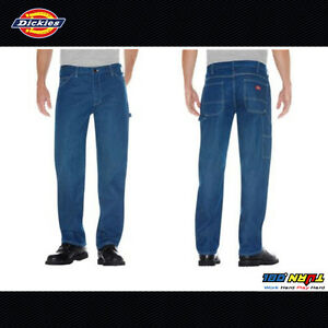 e7d41abde Image is loading Dickies-Denim-1993SNB-Relaxed-Fit-Carpenter-Jeans-Medium-