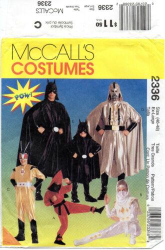 McCalls 2336 Super Hero Batman Ninja Costume Patterns Kids Adult Choose Size