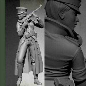 1-35-Resin-Figure-Model-Kit-World-War-II-Female-officer-Unpainted-X3C8
