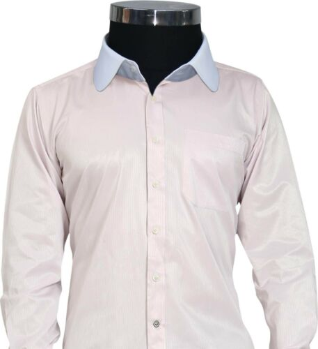 Mens Penny collar shirt Baby Pink Oxford Stripes Peaky Blinders Club collar Gent