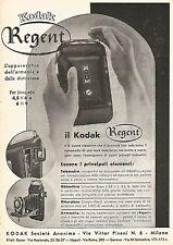 W9422 Macchina fotografica KODAK Regent - Pubblicità del 1937 - Old advertising