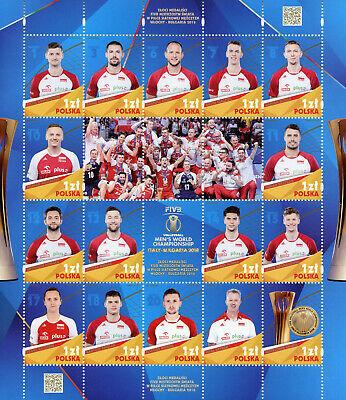 Poland 2018 Mnh Men's World Championship Volleyball 16v M/s Sports Stamps Knappe Verschijning