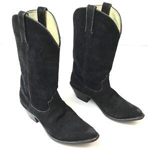 Durango-Boots-Womens-Black-Suede-7-5M