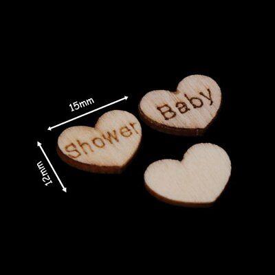 100x In Legno Baby Shower Cuore Tavolo Arredamento Vintage Rustico Matrimonio, Carta Confetti-mostra Il Titolo Originale Top Angurie