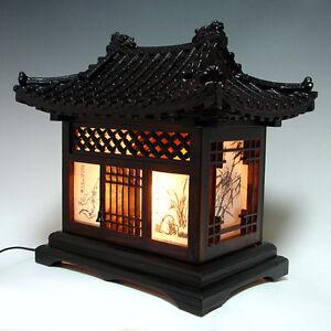 Delightful Image Is Loading Wooden Art Shade Lantern Bedside Home Deco Oriental