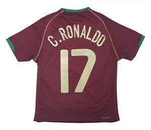 Portogallo 2006-08 Authentic Home Shirt Ronaldo #17 (eccellente) S Soccer Jersey
