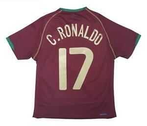 Portogallo 2006-08 Authentic Home Shirt Ronaldo #17 (eccellente) S Soccer Jersey