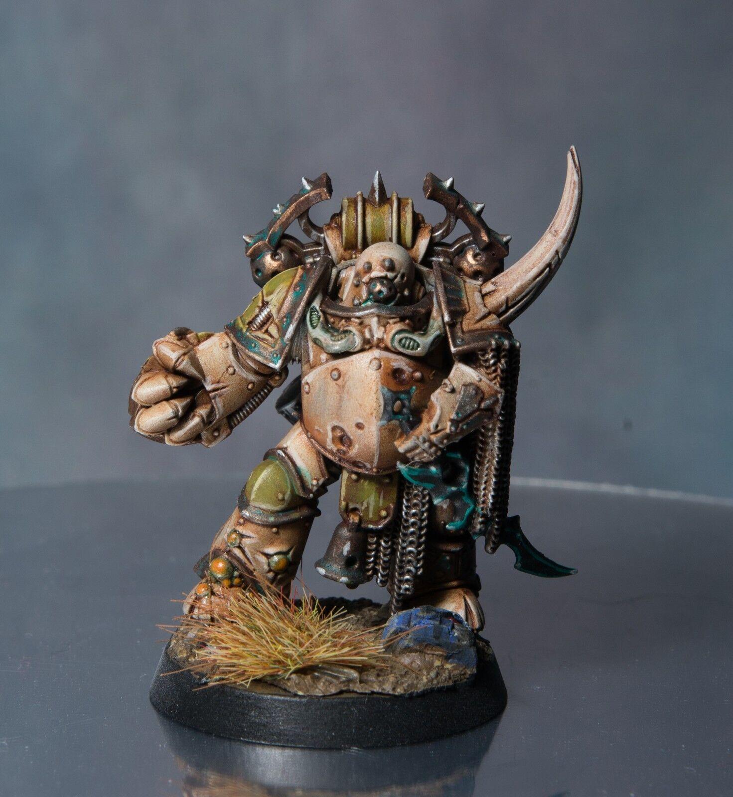 Warhammer 40k pest champion nurgle tod wache gut gemalt