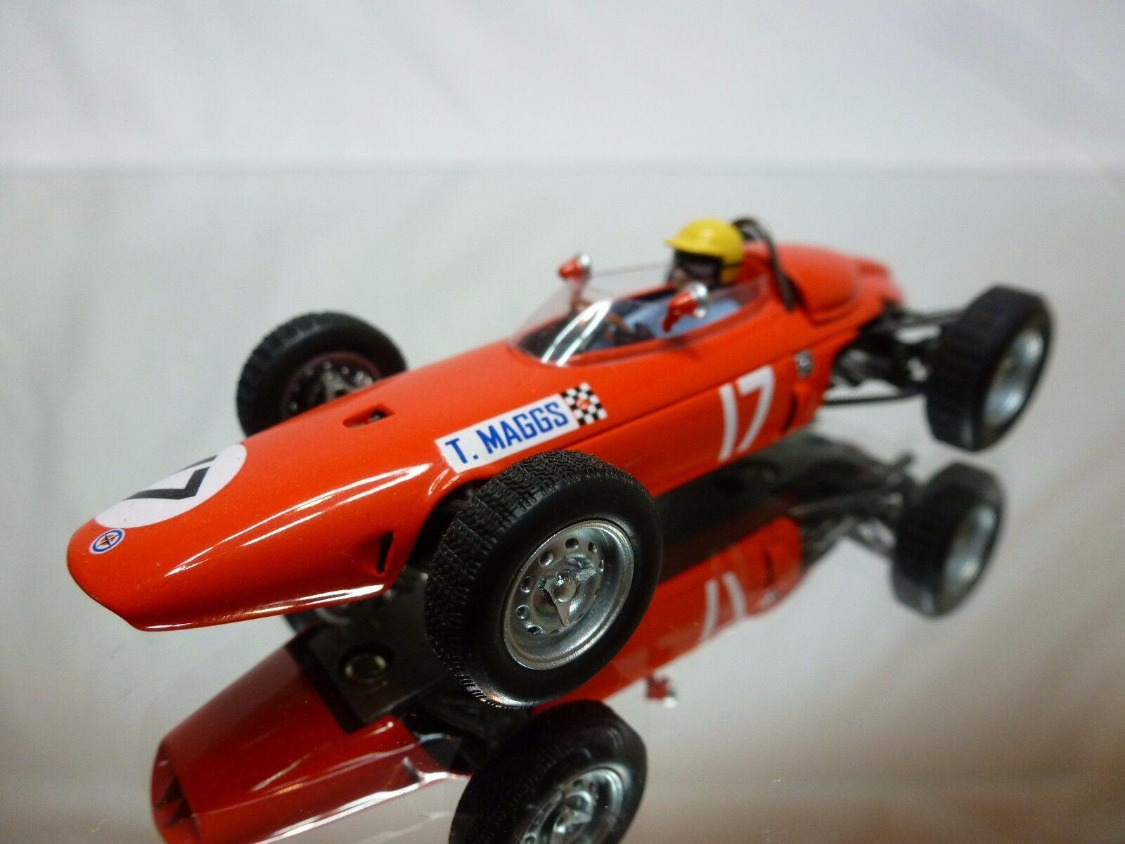 SPARK BRM P57 P57 P57 FORMULA RACE CAR - TONY MAGGS No 17 - F1 orange RED 1 43 - GOOD 9673e5