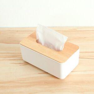 Tissue-Box-Dispenser-Wooden-Covers-Paper-Storage-Holder-Napkin-Case-Organizer