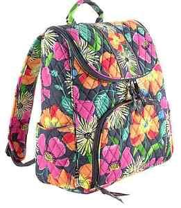 NWT-Vera-Bradley-Double-Zip-Backpack-Bag-in-Jazzy-Blooms