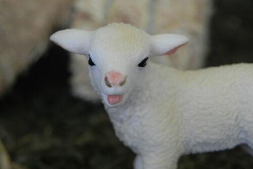 "Schleich Lamb Retired Figurines 5/"" Nativity Farm  Animal Pesebre Animales Ovejas"